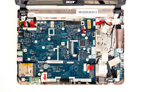 Acer Aspire One D150: interno base