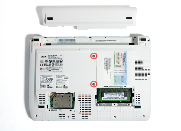 Memoria dell'Acer Aspire One D150