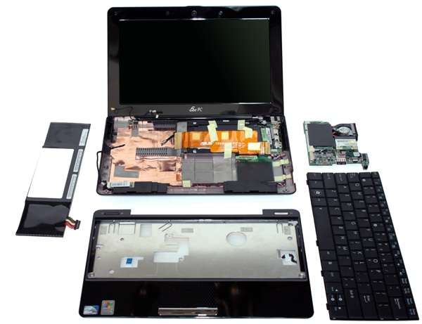 Asus Eee PC 1008ha smontato