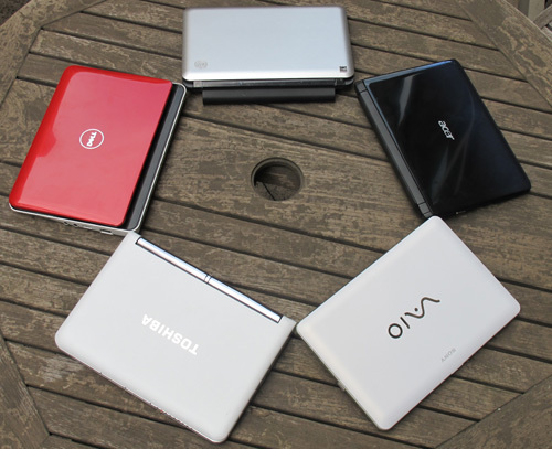 Comparativa netbook Acer, Dell, HP, Sony e Toshiba
