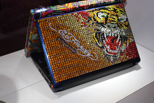 Acer Aspire One con skin Ed Hardy