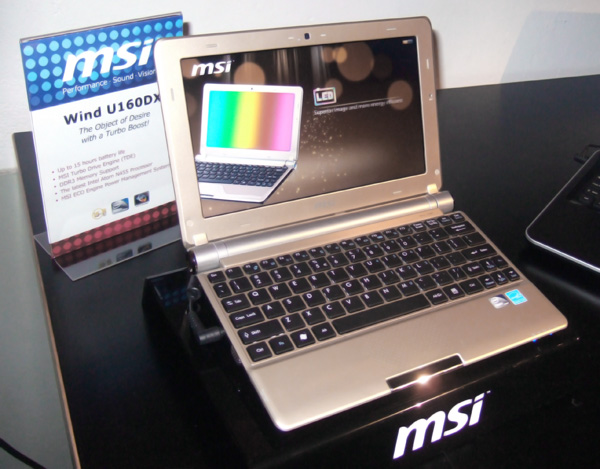 MSI Wind U160MX al CeBIT 2011