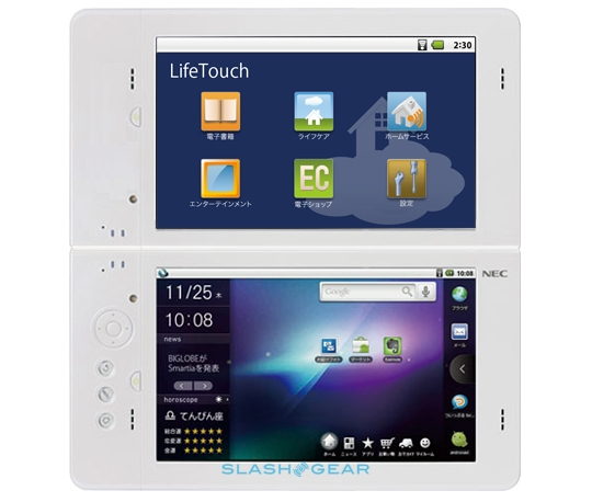 Tablet NEC LifeTouch dual-screen