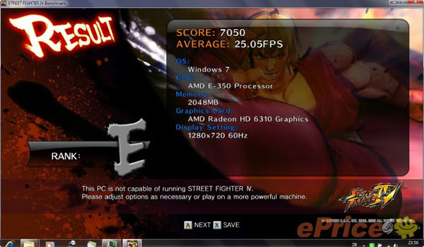 Street Fighter 4 su AMD Mobility Radeon 6310