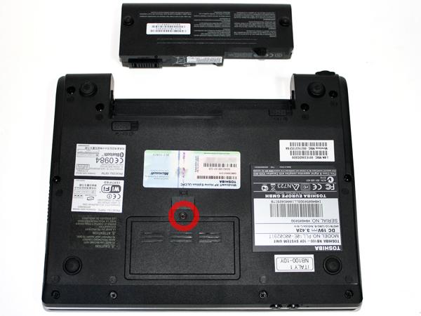 Sportellino memoria Toshiba NB100